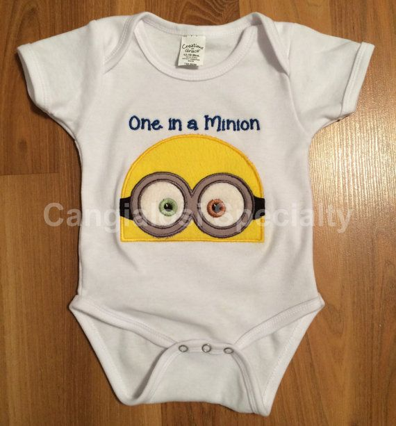 One in a Minion Onesie AND Shirts by CangialosiSpecialty on Etsy