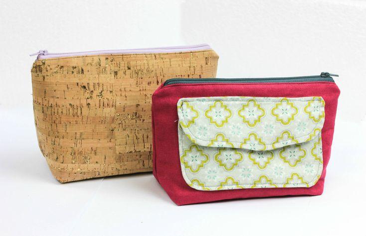 FREEBOOK: kleine Kosmetiktasche mit Reißverschluss