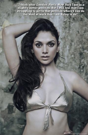PopWet Entertainment: Aditi Rao Hydari Posing Hot in Bikini for a Magazine.