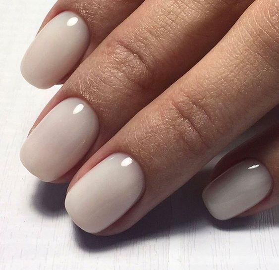Breathtaking nude nail polish