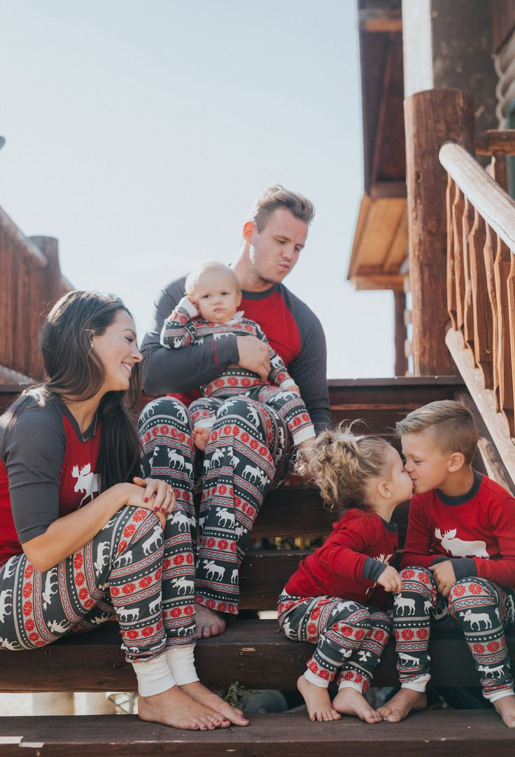 Matching Christmas pajamas for the whole family!
