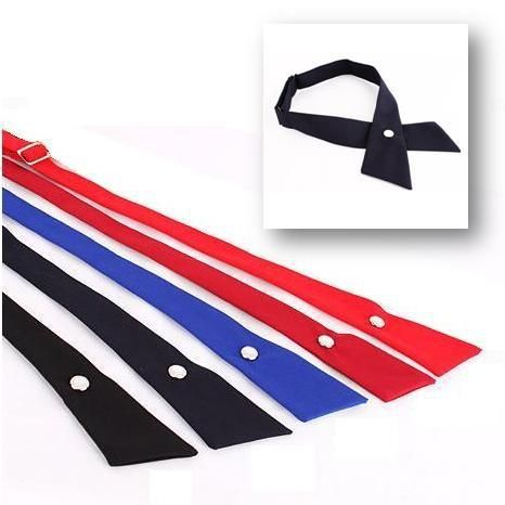 crossover solid color butterflies butterfly bowknot bow tie knot bowtie men's necktie women's neck ties polyester ascot cravat