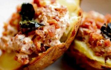 Potato Cakes w/ Smoked Salmon, Baked Potatoes w/ Crisp Kale, Bacon, & Creme Fraiche w/ Verjus, Kevin Dundon Dunbrody's Potato & Lime Soup, Stephen McArdle's Rooster Potato, Red Onion, & Hegarty's Cheddar Souffles, Ross Lewis's Potato Pancake w/ Spinach & Ardsallagh Goat's Cheese, Ananda Aloo Tikki, Tandoori Aloo, & Ananda's Saag Aloo,