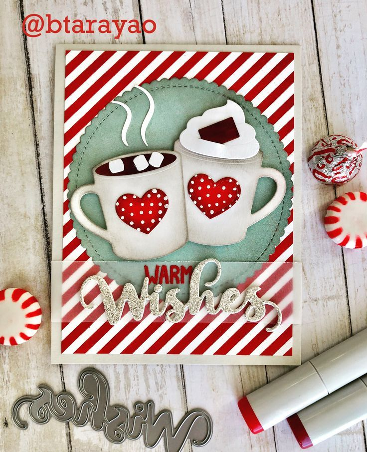 Card cup cups mug mugs christmas wishes, MFT hot cocoa cups Die-namics MFT stitc… – Stamp Me Some Love