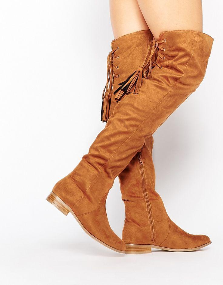 Bild 1 von Missguided – Flache Overknee-Stiefel