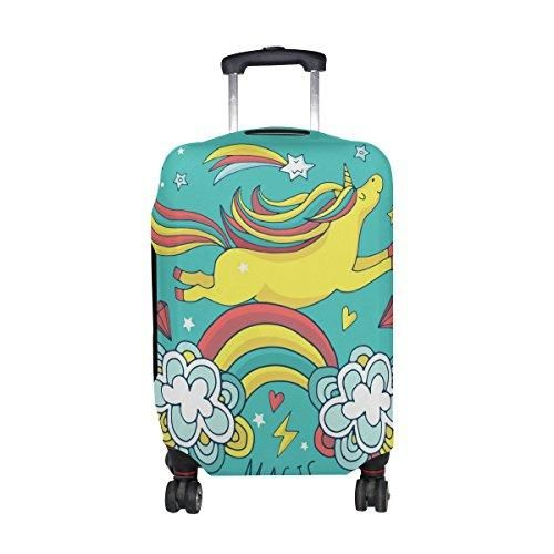 2cbc99967 MyDaily Rainbow Unicorn Cartoon Kids Travel Luggage Cover Spandex Protector Fits  23-32 Inch Suitcase XL