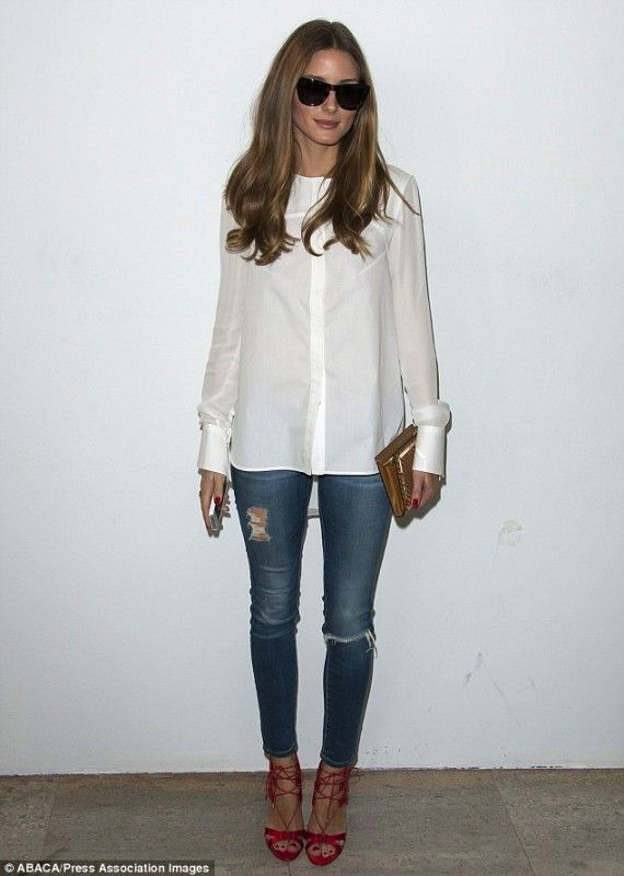 Olivia Palermo LookBook 2013 and Style Finder blouse and jeans