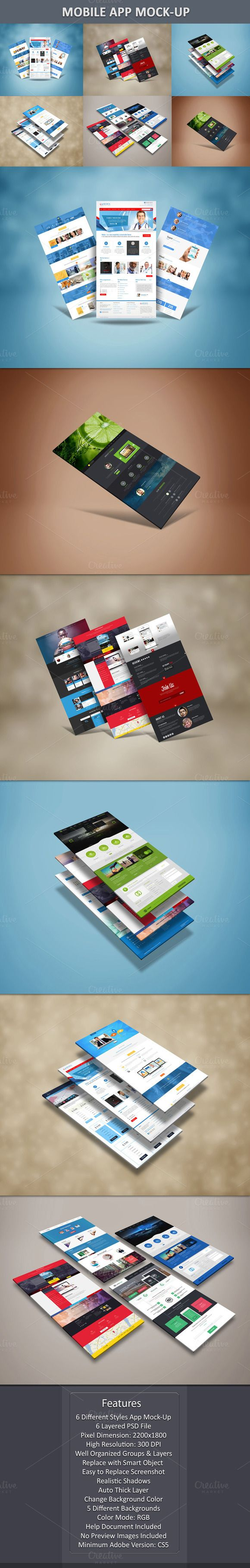 Mobile App Mock-up by Graphicsworld125 on Creative Market