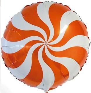 Balão Pirulito Laranja Redemoinho dos Doces Candy Swirl Blue - Estilo e festas