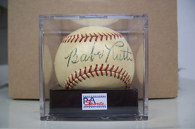 Autographed Baseballs-Babe Ruth Autographed Baseball PSA 8 Overall NM 7 w/ PSA/DNA Letter COA   Babe Ruth Autographed Baseball PSA 8 Overall NM 7 w/ PSA/DNA Letter COA Babe Ruth Autographed Baseball PSA 8 Overall NM 7 w/ PSA/DNA Letter COA