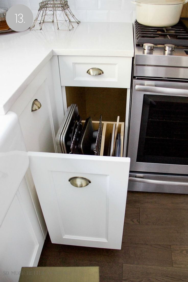 Kitchen cupboard and drawer organization
