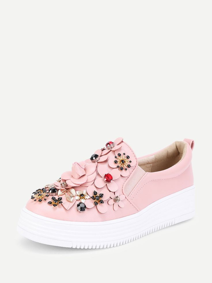 Shop Flower Decorated Low Top Sneakers online. SheIn offers Flower Decorated Low Top Sneakers & more to fit your fashionable needs.