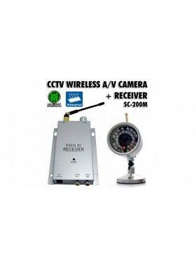 Ασύρματο Κιτ Παρακολούθησης με Αδιάβροχη Κάμερα Νυχτερινής Λήψης CTV SC-200M!