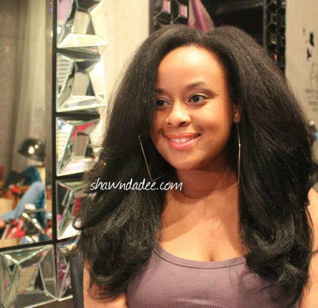 Blending Straight Weave Natural Hair