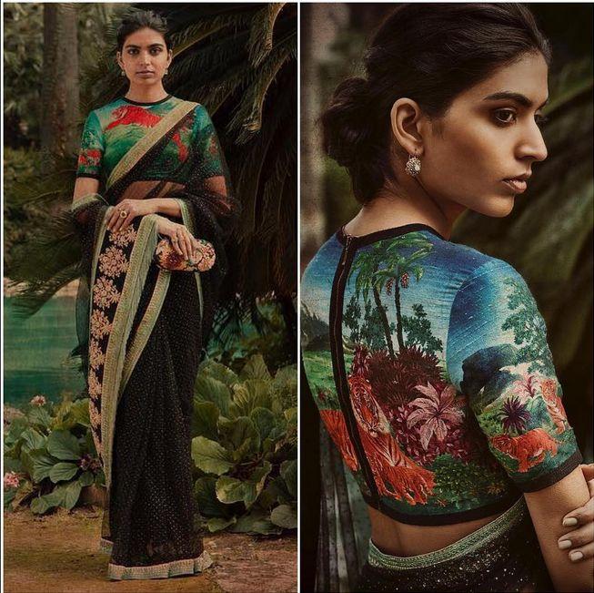 A beautiful Embroidered sari