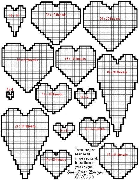 Basic heart shapes