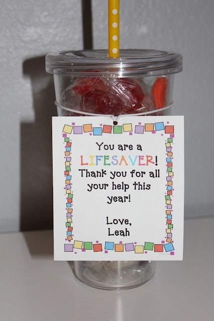 Gift Idea for Parent Helpers or Classroom Assistants