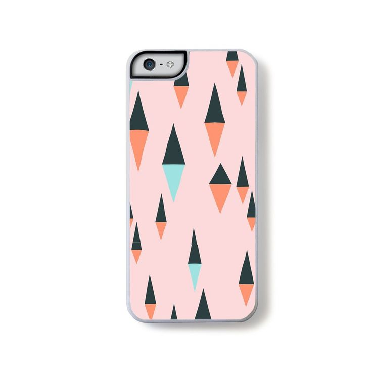 Abstract triangle colors on pink for iPhone 5