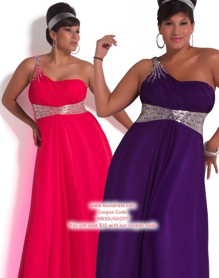 A-line One Shoulder Chiffon Prom Dresses #BUSA0244858