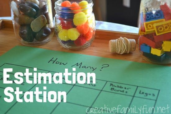 Estimation Station for After School Fun ~ Creative Family Fun