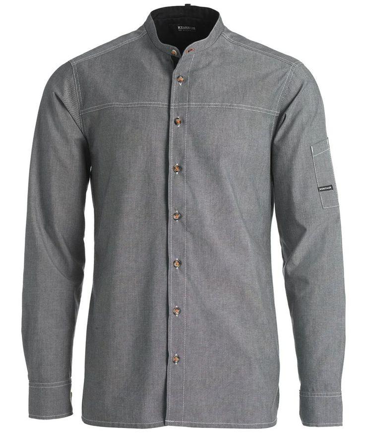 Kentaur unisex kokkeskjorte, chambray grå