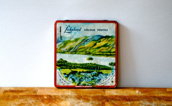 Colouring Pencils Tin Vintage Lakeland colour by BaraWenVintage, £6.00