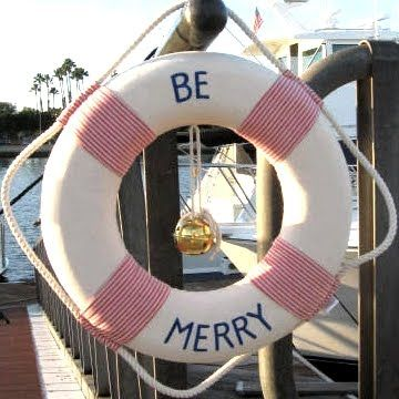 nautical christmas life ring by Home by the Shore