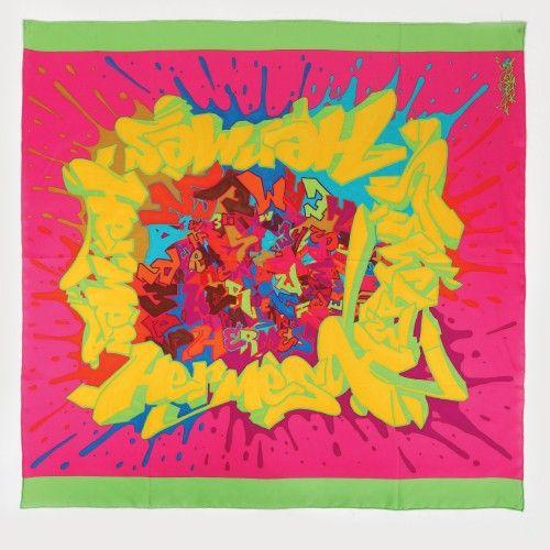 """Eșarfă Hermès """"Graff"""", designer Cyril 'KONGO' Phan, din mătase naturală Colecția toamnă/iarnă 2011 90 x 90 cm Preţ de pornire: € 200"""