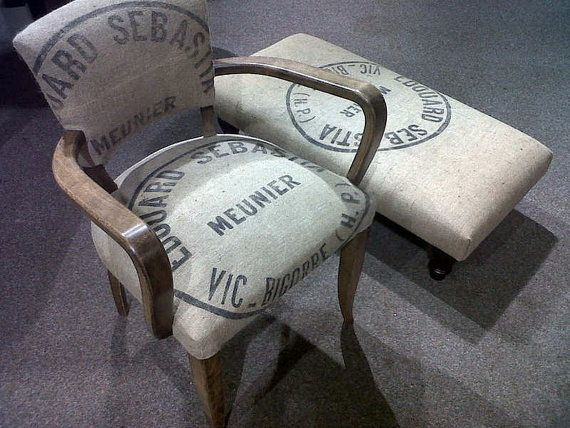 Vintage French Grain Sack Burlap Sack Jute sack by maintenant, $62.00