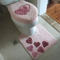 Cheap Free Shipping !Pink & Blue toilet seat cover & Rug & Mat