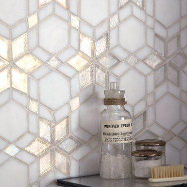 Iridescent Glass Mosaic Frost Kaleidoscope