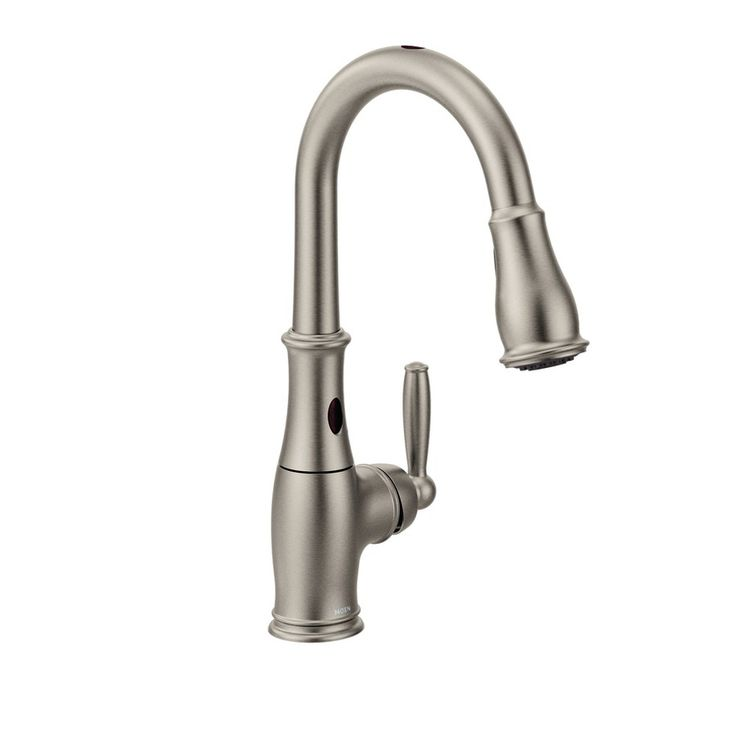 Moen Brantford with Motionsense Spot Resist Stainless 1-Handle Pull-Down Touchless Kitchen Faucet