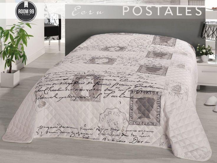 Nemecké Vintage prehozy | Prikrývka na posteľ Postales | Prehozy | prehozy na posteľ, hodiny, koberce | www.dekorstudio.sk