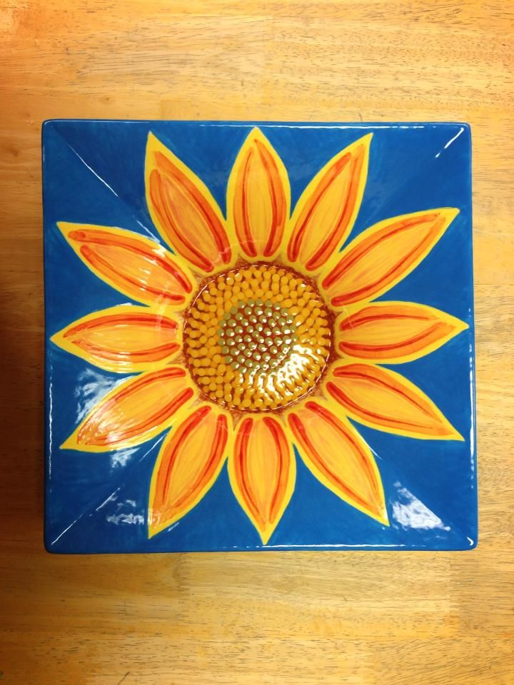 Sunflower Paint Your Own Pottery Bowl; Hand painted pottery; Writer Bottle Dots & 214 best Great for Summer Pottery Painting Ideas images on Pinterest ...