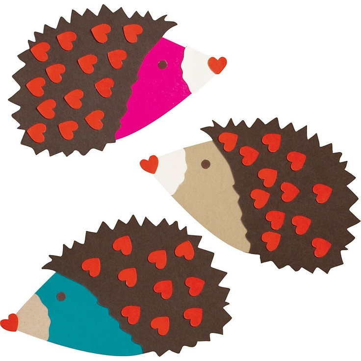 Hedgehogs Valentine Card Kit - Paper Source