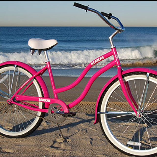 Bikes With Baskets That Are Hot Pink Beaches Cruiser Bike Pink