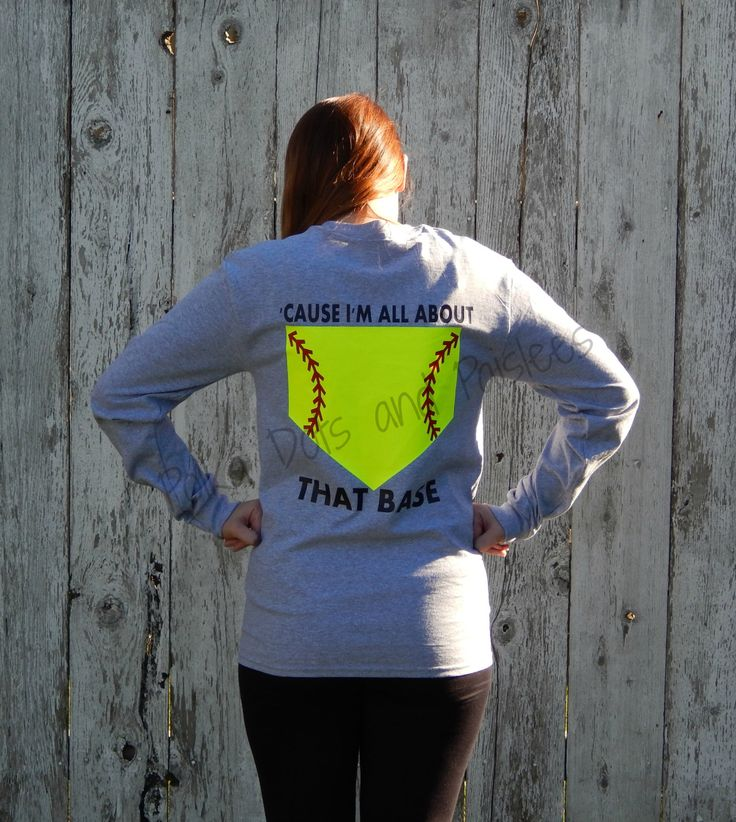All About That Base Softball Shirt with FREE by PumpkinPieGirl