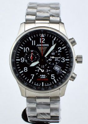 Junkers 150 Years Hugo Junkers Alarm Chronograph Watch $450