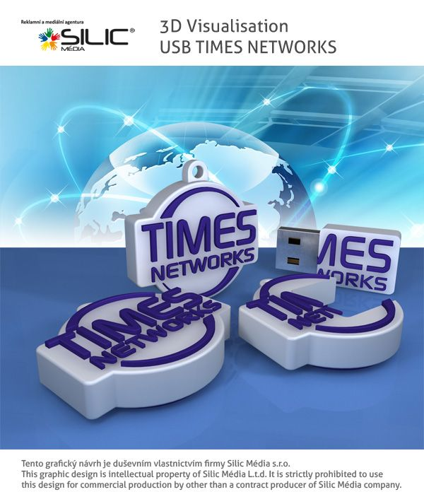 3D vizualizace USB Flash Times Network