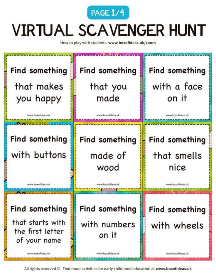 30 Creative Scavenger Hunts For Kids Digital Learning Classroom Online Teaching Student Activities Things to do with preschoolers on zoom