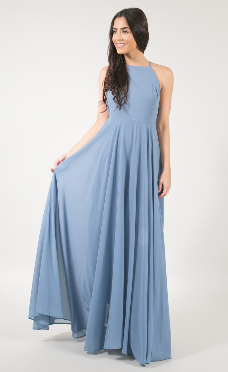 Best 10 dusty blue bridesmaid dresses ideas on pinterest dusty reign dusty blue flowy maxi dress ombrellifo Images
