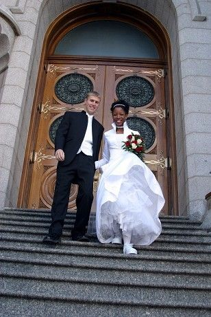 interracial wedding ~ Interracial love ~ interracial couple ~ interracial family ~ Black and White ~ Biracial