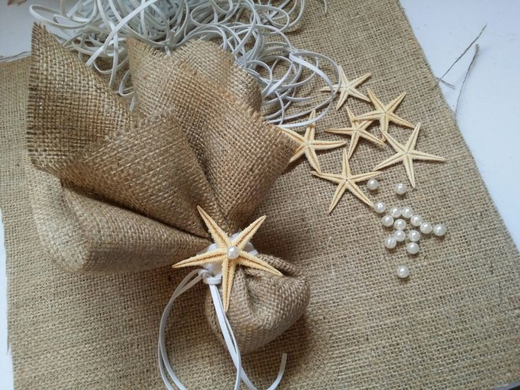 Taking a monent to share a wedding favor from the new summer collection of Precious and Pretty!Burlap starfish favors! #wedding #favors #starfish #burlap #summer #new #collection #preciousandpretty