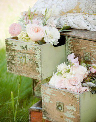 so sweet...Old Drawers, Old Dressers, Shabby Chic, Girls Room, Gardens, Vintage Rose, Chest Of Drawers, Flower, Shabbychic