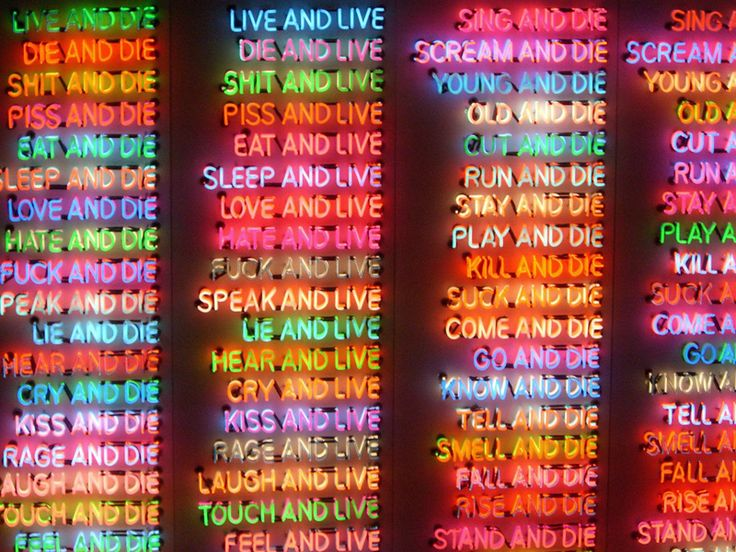 '100 Live and Die' by Bruce Nauman