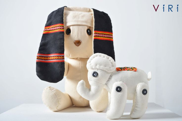 Stuffed toys - Rabbit & elephant set #VIRI #KIDS #TOYS #ANIMALS