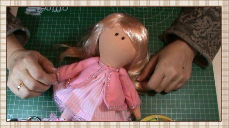 Tutorial muñeca rusa: Abrigo y pelo