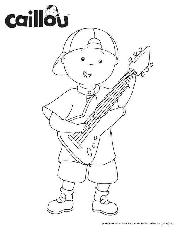Free Rock N Roll Coloring Pages : 76 best caillou coloring fun! images on pinterest