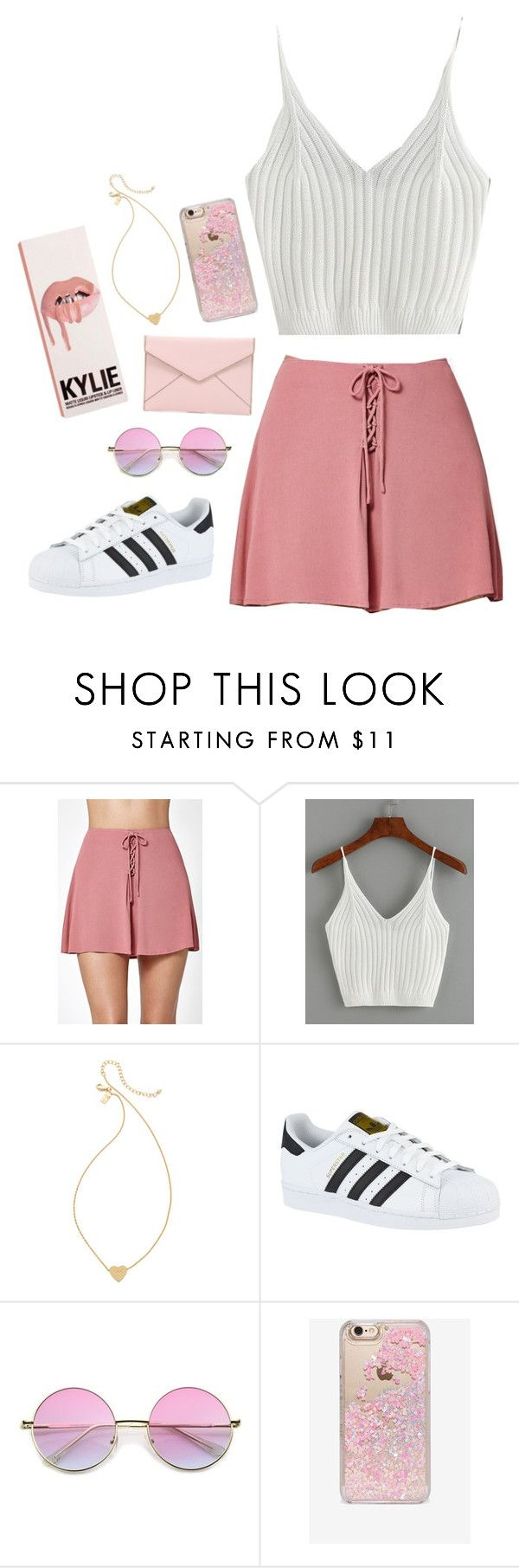 """""""Koko K"""" by ckroup ❤ liked on Polyvore featuring Kendall + Kylie, Kate Spade, adidas, Skinnydip and Rebecca Minkoff"""