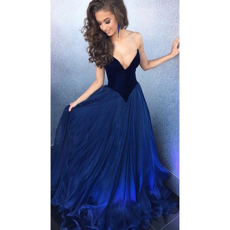 sherri hill#Royal Blue#Prom Dresses#2017